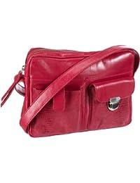 Ferrara 4-313 FA 19, Damen Umhängetaschen, Rot (red), 19x18x7 cm (B x H x T) Bodenschatz