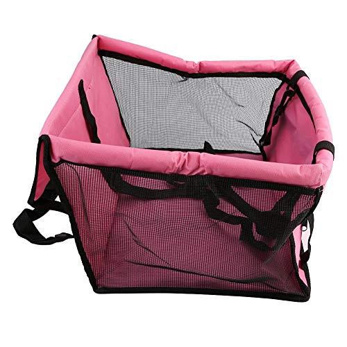 Car Pet Carrier, faltbare Auto Haustier Hund Sitzbezug Oxford Stoff Pet Carrier Mesh Korb schwarz rosa -
