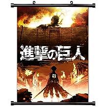 Attack on Titan (Shingeki no Kyojin) Anime Fabric Wall Scroll Poster (32x45) Inches