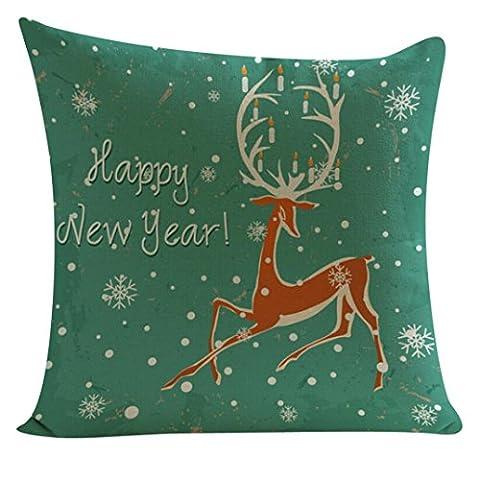 Cushion Cover, Manadlian 2017 New Soft Santa Claus Elk Printing Dyeing Sofa Home Decor Pillow Cover Cushion Cover 45*45cm (45*45cm, Multicolor 2)