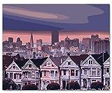 Menddy Edifici Residenziali Paesaggio Fai da Te Pittura By Numbers Kit Pittura su Tela Pittura Calligrafia per La Decorazione Domestica con Cornice 40x50cm