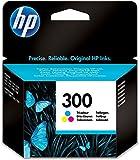 HP 300 Farbe Original Druckerpatrone für HP Deskjet D1660, D2560, D2660, D5560, F2480, F4224, F4280, F4580; HP ENVY 110, 114, 120, HP Photosmart C4680, C4780