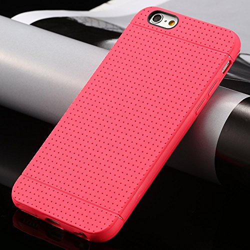 Slim TPU Silikon Gummi oberflächlichen stoßfest Handy Fall, iPhone 55S 5SE 66S, rot, iPhone 6 6S rose