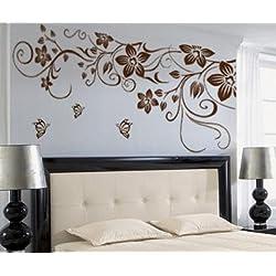Hermosa flor de juegos de pared dodoskinz guardería infantil pared pegatinas para habitación de los niños bebé ducha decoración ¡