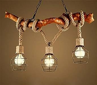 kronleuchter seil 3 flammig loft lampe retro pendelleuchte esszimmerlampe pendel leuchter des. Black Bedroom Furniture Sets. Home Design Ideas