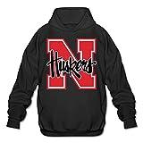 hotgirl4Universidad de Nebraska Cornhusker Hombres personalizados de manga larga Sudaderas con capucha negro