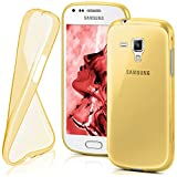 moex Samsung Galaxy Trend Plus | Hülle Silikon Transparent Gold Clear Back-Cover TPU Schutzhülle Dünn Handyhülle für Samsung Galaxy Trend Plus/Trend Case Ultra-Slim Silikonhülle Rückseite