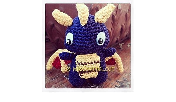 crochet spyro tutorial   Crochet dragon, Halloween crochet, Dragon ...   350x600
