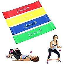 Set di Elastici di resistenza in lattice bande fitness Stretch gamba Formazione elasticizzata per allenamento per la forza, terapia, casa esercizio Crossfit, Yoga, Pilates e più–Allenamento per uomini e donne, set of 4