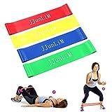 Set di Elastici di resistenza bande fitness Stretch gamba Formazione elasticizzata per allenamento per la forza, terapia, casa esercizio Crossfit, Yoga, Pilates- Allenamento uomini e donne, set of 4
