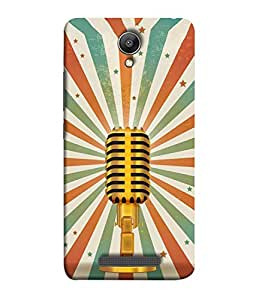 Redmi Note2 Back Cover Gold Mike Colour Image Design From FUSON