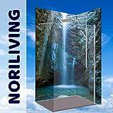 NORILIVING Duschrückwand -Wasserfall Chantara Trodos Berge-Zypern, 2 Platten mit je 90x200cm, jegliche Größen möglich, Zuschnitt auf Ihre exakten Wunschmaße, fugenlos, Bad-Verkleidung, Fliesenersatz