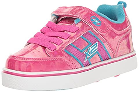 Heelys X2 Bolt Plus, Girls' Sneakers, Pink (Hot Pink Hologram / Neon Blue), 13 Child UK (32 EU)