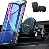 VANMASS Mobile Phone Holder for Car Air Vent Car Mobile Phone Holder Super Strong with 6 Magnets and 3 Metal Plate 360° Rotatable for iPhone iPad Samsung Huawei LG etc.
