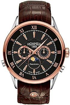 Roamer Men's Quartz Watch w/White Dial Chronograph Display