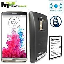 Mugen Power - LG G3 6200mAh batería extendida con la contraportada (NFC de apoyo y carga inalámbrica) Más de 2X más poder! (Negro)