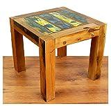 Asia Wohnstudio Java Couchtisch | Recyceltes Buntes Bootsholz | Asiatischer Wohnzimmertisch | Designer Möbel aus Bootsholz | Massivholztisch der Marke Kaffeetisch aus Bootsholz | Beistelltisch