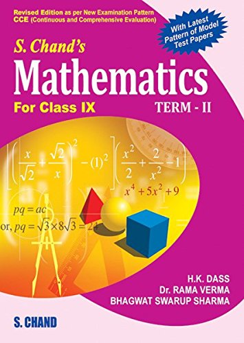 s chand s mathematics for class ix term ii ebook h k dass rama