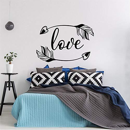 Zxfcczxf 57 * 38cm love arrow vinyl decalcomania da muro bohemian bedroom decoration modern design frecce wall sticker family love wallpaper arte del vinile