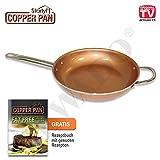 Starlyf Copper Pan Pfanne aus Kupfer-Keramik mit Antihaftbeschichtung Ø 28 cm - Original aus TV-Werbung