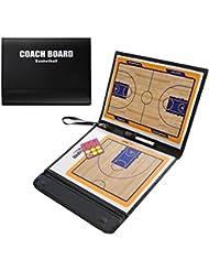 Odowalker, lavagna per annotare strategia basketball, cancellabile a secco, attrezzatura per allenamenti, lavagna in pelle sintetica, leggera e portatile