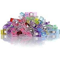 GWHOLE 60 Stück Stoffklammern Nähen Zubehöre Kunststoff 6 Farben, 27*10mm