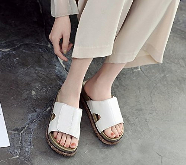 YMFIE primavera y verano damas' high heels dedos sandalias ahuecado y temperamento parte de moda tacones para banquetes.36,a la UE 36 EU|a