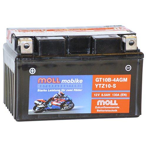 Moll mobike AGM Motorradbatterie YTZ10-S 8,5Ah 12V 130A - GT10B-4