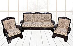 Yellow Weaves 6 Piece Sofa and Chair Cover Set (Beige)