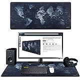 Anpollo Alfombrilla Raton Ordenador | Alfombrilla de ratón XXL 900x400mm | Alfombrilla Gaming | Base para Mesa Grande | Mapa Mundi