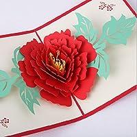 Handgemachte Origami papercraft 3D Pop-up popup Pfingstrose Blume Hochzeit Einladung Geburtstag Gruß Weihnachten Weihnachten Valentinstag-Karte