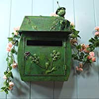 Preisvergleich für CQ Europäischen Klassischen Villa Box Garten Antiken Wandbehang Schloss Brief Box Wasserdichte Outdoor Mailbox (Color : Green)