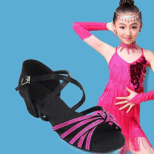 Dance Sandalen Schwarz Salsa Latin Schuhe M盲dchen f眉r Eastlion Schuhe Tango Frauen Tanz und Ballsaal Praxis 8qwWBHX