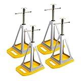 Camco Unterlegplatten 4er Set inkl. ProPlus Stützbock für Wohnwagen & Wohnmobil