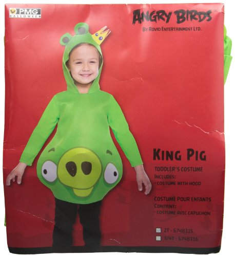 King pig infant costume Halloween size of Angry Birds Angry Birds King Pig Toddler Costume: Toddler 2T (japan import) (Angry Birds King Pig Kostüm)