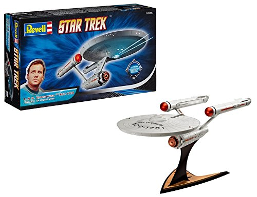 Revell Modellbausatz Star Trek - U.S.S. Enterprise NCC-1701 im Maßstab 1:600, Star Trek The Original Series, Level 3, originalgetreue Nachbildung mit vielen Details - 04880 -