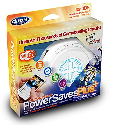3DS Action Replay PowerSaves PLUS 2018 - Cheaten OHNE PC für 3DS Spiele & amiibo-Figuren inkl. 8 GB microSD Karte