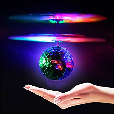 OWIKAR RC Flying Ball Toy, RC Infrared Induction Helicopter Ball Built-in Shinning LED Lighting for Kids, Teenagers Colorful Mini Aircraft Flashing Light Remote Toys for Kids Children Gift