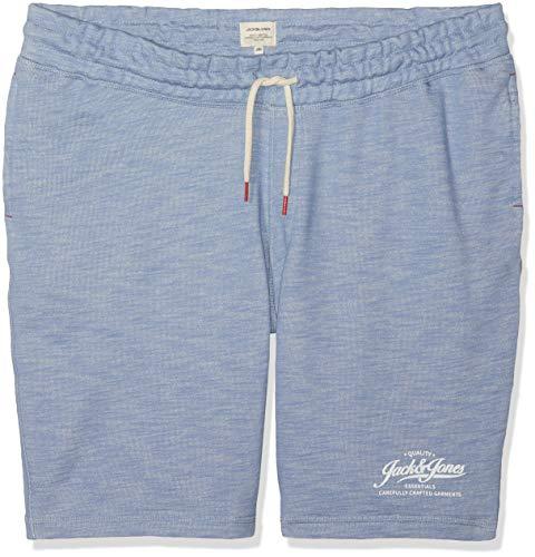 Infinity-hosen (JACK & JONES Herren Jjemelange Sweat Ps STS Shorts, Blau (Infinity Detail Melange), W(Herstellergröße: 3XL))