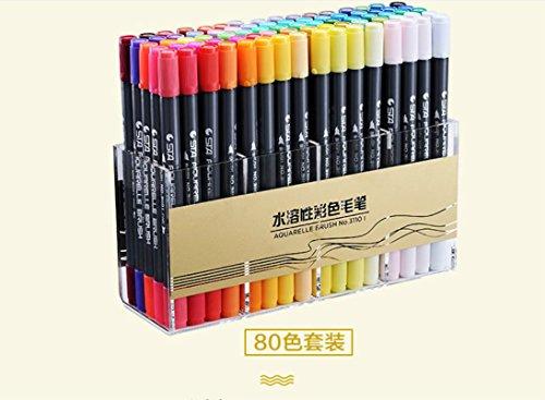 Heelinna Sinnvoll Doppelkopf Wasserlösliche Black Pen Body Fine Marker - Multicolor (Packung mit 80)