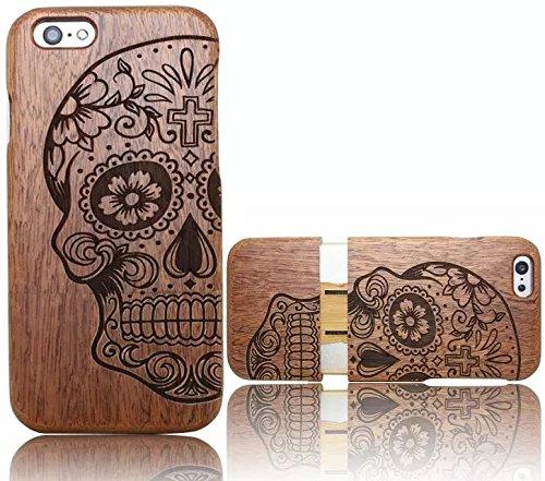 Wooden Case Cover,Vandot Unico Reale Handmade Legno [Naturale WoodBack Lavorato