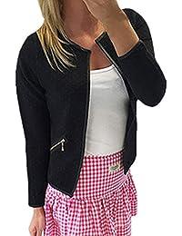 20b771759f8b Zanzea Printemps Femme Jacket à Manches Longues Ouvert Slim Cardigan  Blouson Casual Blazer Coat