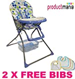 BRAND NEW BABY HIGH CHAIRS FOLDABLE HIGHCHAIR FEEDING TOP QUALITY 2014 MODEL (BLUE)
