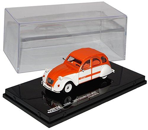 Vitesse Citroen 2CV Spot Orange Weiss 1949-1990 1/43 Modell Auto mit individiuellem Wunschkennzeichen