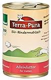 Terra Pura Bio Katzenfutter Rindermahlzeit 400 g Glutenfrei, 12er Pack (12 x 400 g)