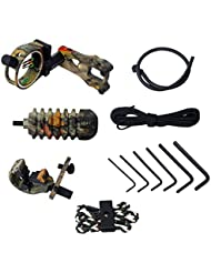 Gazechimp Accessoire Tir à L'arc à 5-pin Bow/Peep Sight, Repose-flèche, Stabilisateur,Bow Sling