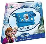 Produkt-Bild: Frozen Bastel-Set: Umhänge-Tasche mit Anna und Elsa-Druck ? zum Selber Verzieren mit Steinen, Knöpfen, Glitzer-Leim, Blumen und Sternen, Geschenk für Mädchen