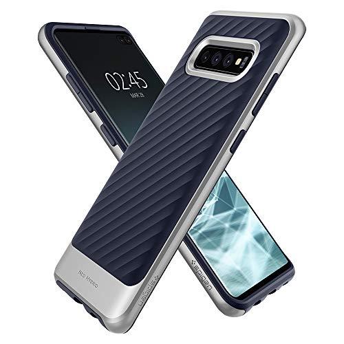Spigen 606CS25776 Neo Hybrid Kompatibel mit Samsung Galaxy S10 Plus Hülle, Zweiteilige Handyhülle Silikon und PC Rahmen Schutzhülle Case Artic Silber