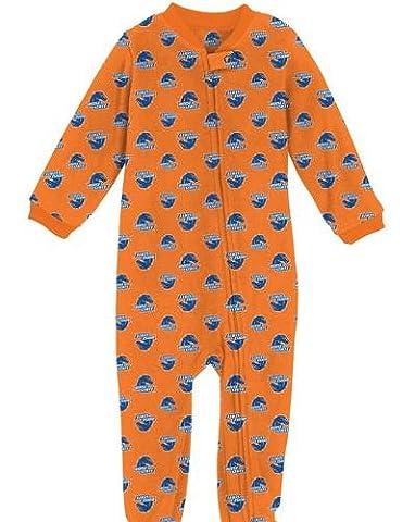 Boise State Broncos Toddler Full Zip Raglan Coverall Sleeper