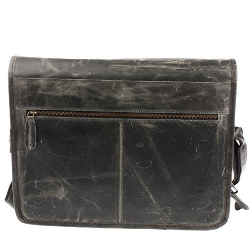 9e0022dec862b ... LECONI Businesstasche Unisex DIN A4 Messenger Bag Vintage Look Aktentasche  große Collegetasche Damen   Herren Ledertasche ...
